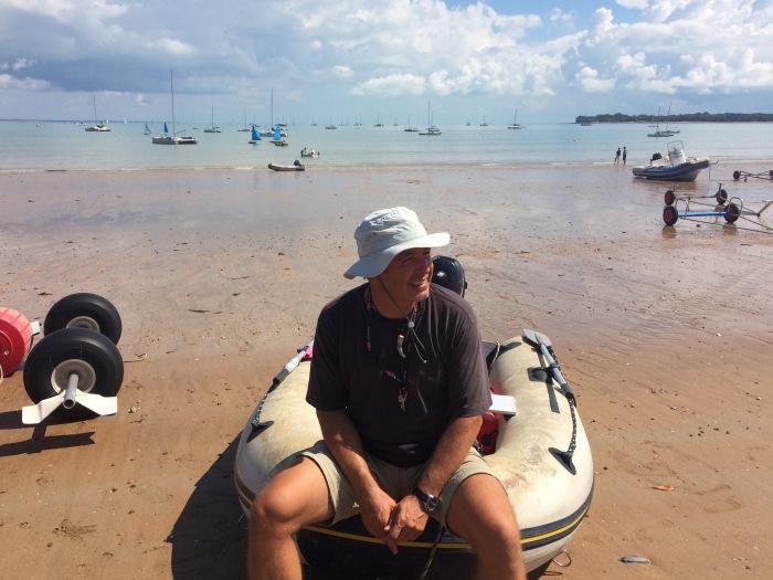 Idilli parton a vitorlás telepen. Megérkeztünk.