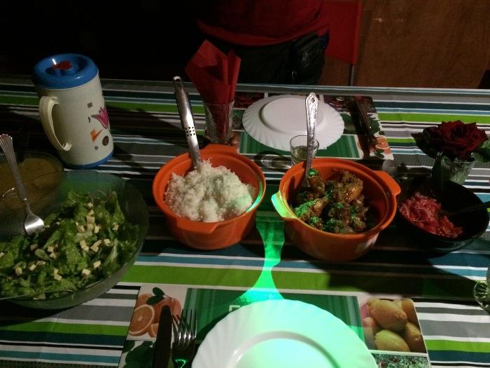 A vacsoránk. Egyszerű de ízletes